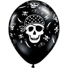 20 x pirate skull crossbones qualatex 11 balloons