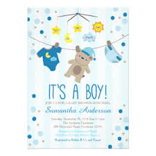 baby shower invitations for boy teddy baby shower invitations announcements zazzle