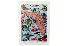 Vintage Florida Map by 1912 Vintage Florida Illustrated Pictorial Map Omero Home