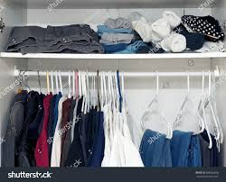 Armoire Hanging Closet Looking Inside Mans Closet Armoire Full Stock Photo 286036268