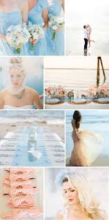 pale blue beach chic wedding ideas with a hint of peach