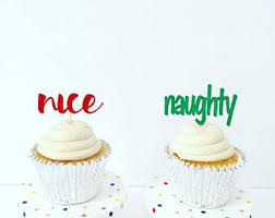 Christmas Cake Decorations Set by Naughty Cake Topper Etsy