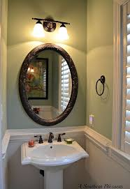 Bathrooms With Beadboard Half Bath Makeover Using Beadboard Wallpaper And Behr Paint Hometalk