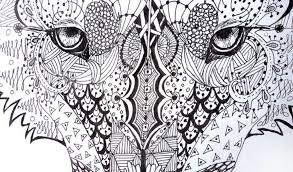 abstract wolves coloring pages coloring