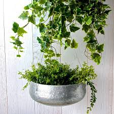 Galvanised Vases Large Zinc Hanging Planter By London Garden Trading