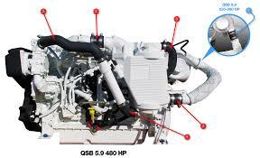 5 9 Cummins Water Pump Qsb 5 9 Engine Hoses Seaboard Marine
