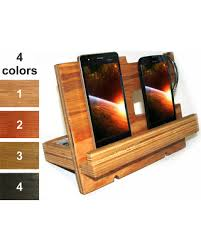 wood gifts deals on station men phone holder wood nightstand valet