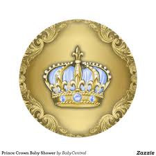 prince crown baby shower paper plate babies crowns and prince