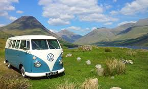 volkswagen van hippie widescreen classic vw bus camper van returning in with volkswagen
