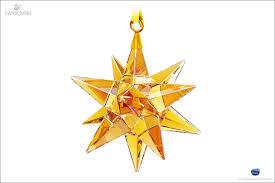 Swarovski Christmas Star Ornaments by Swarovski Star Ornament Golden Shadow