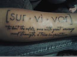 survivor tattoo love it if this could be my first i would