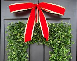 Artificial Christmas Wreaths To Be Decorated christmas wreaths winter decor boxwood custom by elegantwreath