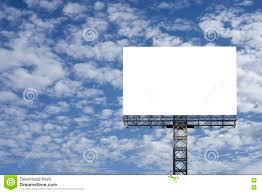 blank big billboard against blue sky background for your