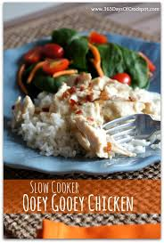 slow cooker ooey gooey chicken plus a copy cat recipe for good