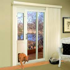Patio Door With Pet Door Built In Sliding Glass Door Installation Door Design
