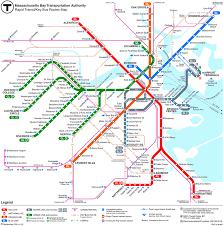 boston tourist map boston subway the t boston transportation information
