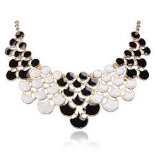 statement necklace white images Black and white statement necklace jpg