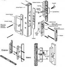 sliding glass door lock repair sliding patio door parts all handles and replacement parts