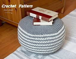 Crochet Ottoman Pattern Pattern Crochet Pouf Pdf Floor Cushion Patterns Crochet Pattern