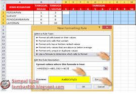 tips membuat jadwal kegiatan harian cara membuat jadwal pekerjaan otomatis di excel sul ilmu