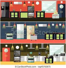 affiches cuisine vecteur plat style ensemble restaurant bannières