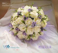 Popular Bridal Bouquet Flowers - cute ivory purple popular wedding bouquet throw bouquet