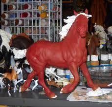 learn how to paint shaded layer base coats on a model horse