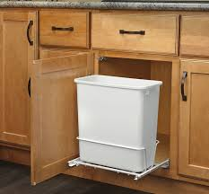 Wooden Kitchen Garbage Cans by Interior Simplehuman Trash Cans In White With Wood Kitchen
