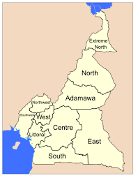map of cameroon map of cameroon showing the ten regions