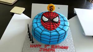 spiderman cake 5 birthday