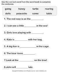 complete sentence worksheets worksheets
