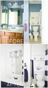 Bathroom Makeovers Before And After Pictures - nautical bathroom makeover the inspired hive