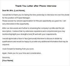 best solutions of sample follow up letter to phone interview for