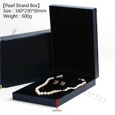 pearl necklace box images Blue and brown color pearl necklace box or pearl choker gift box jpg