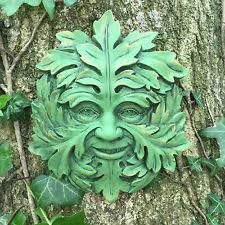 large green spirit greenman garden gift wall plaque outdoor celtic