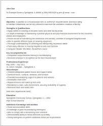 Sample Resume For Hospital Housekeeping Job by Housekeeper Resume Professional Housekeeping Resume Sample