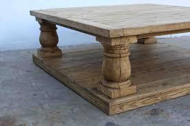 vintage wood coffee table stone legs trestle coffee table interiordecodir com