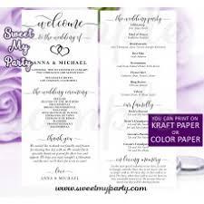 Modern Wedding Program Wedding Ideas Wedding Planner Wedding Decorations Wedding