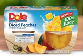 dole fruit bowls dole coupon 1 two dole fruit bowls fruit in 100 juice or