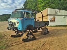 jeep snow tracks 1960 jeep fc170 on tracks imgur