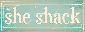 she shack she shack metal sign woman cave she shed rustic décor