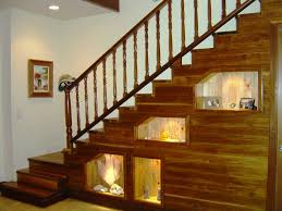 decorations classy hallway room design with shelves under stair