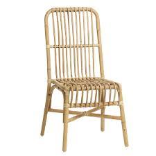 chaise en chaise en rotin vintage ou design kok maison