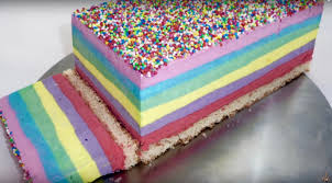 layered rainbow shots rainbow ice cream cake rainbow cake steve u0027s kitchen