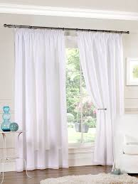 Sewing Curtains With Lining White Luxury Lined Pencil Pleat Voile Curtains 8 Sizes Pelmets