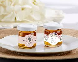 honey favors personalized clover honey garden set of 12 kate aspen