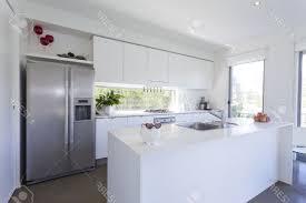 modern stainless steel kitchen stainless steel pyramid range hood wall mounted white laminated
