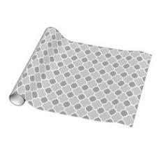 quatrefoil wrapping paper gray and white chic moroccan lattice gift wrapping paper pattern
