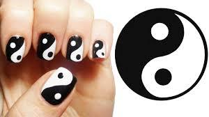 yin yang nail art tutorial youtube