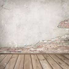 interior texture plastered brick wall and wood interior background texture stock